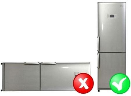 في أي وضع يمكن نقل الثلاجة