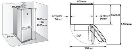 Výber miesta pre inštaláciu chladničky