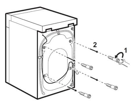 Hur man tar bort säkerhetsbultar från en tvättmaskin
