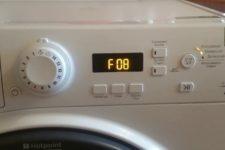 Fel F8 (F08) i Ariston tvättmaskin